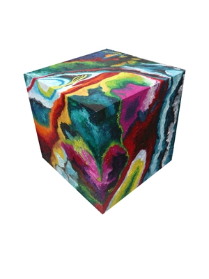 cube-1-oil-on-mdf-1-foot-squared-cube