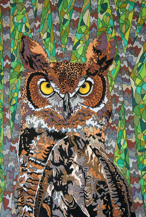 Great Horned Owl 3 by Sharon T Ross 2015 c