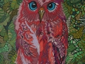 Red Owl by Sharon T Ross 2015 pen & ink on paper 30x42cm (2)